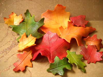 Fall Leaves in Gumpaste by SugarArtByTami